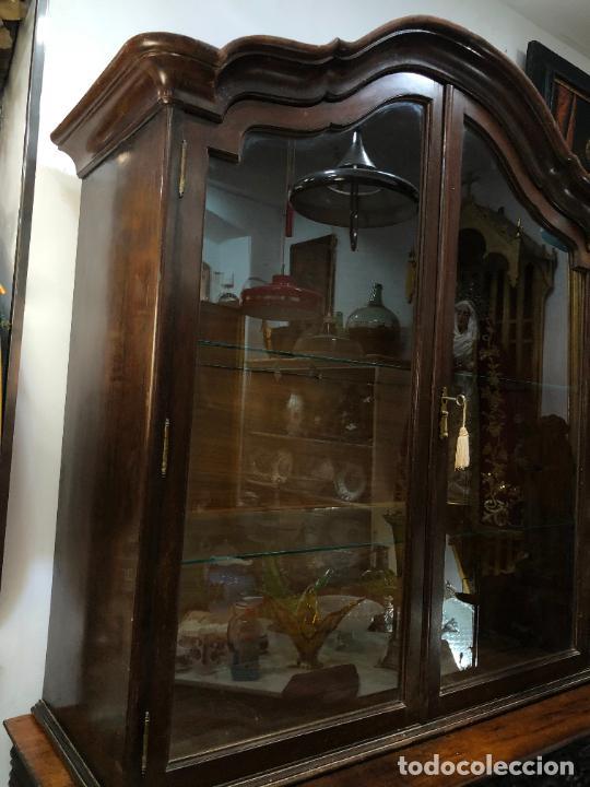 Antigüedades: GRAN VITRINA DE MADERA - MEDIDA TOTAL 131X148X42 CM - Foto 3 - 241234050
