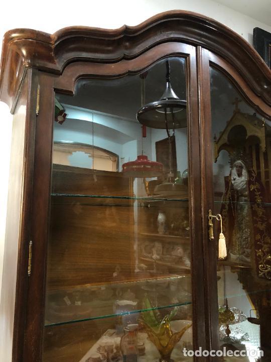 Antigüedades: GRAN VITRINA DE MADERA - MEDIDA TOTAL 131X148X42 CM - Foto 6 - 241234050