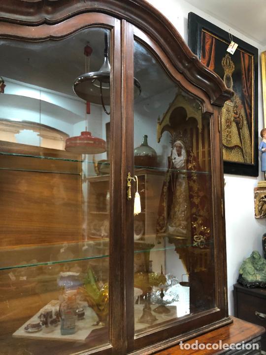 Antigüedades: GRAN VITRINA DE MADERA - MEDIDA TOTAL 131X148X42 CM - Foto 7 - 241234050