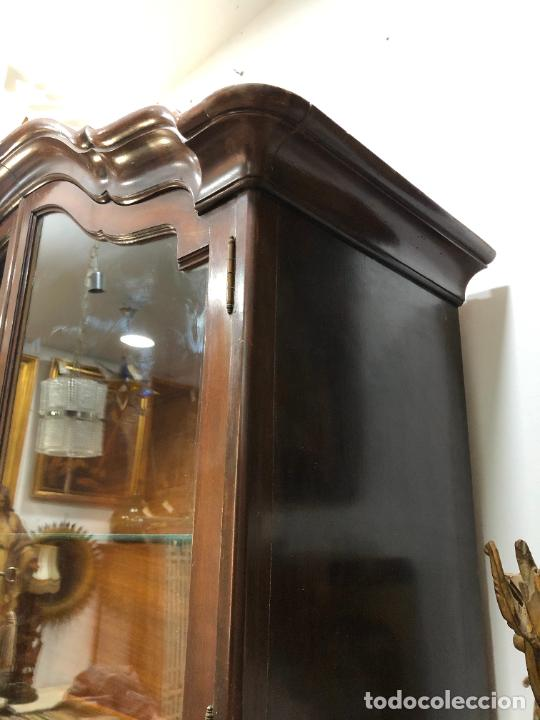 Antigüedades: GRAN VITRINA DE MADERA - MEDIDA TOTAL 131X148X42 CM - Foto 8 - 241234050