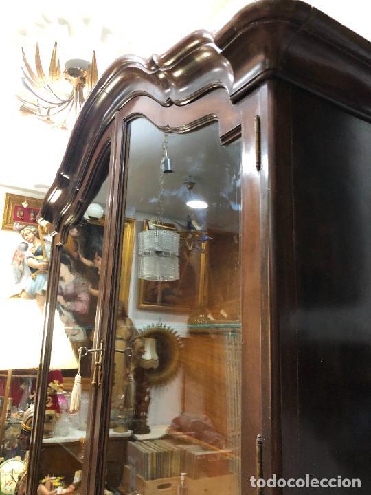 Antigüedades: GRAN VITRINA DE MADERA - MEDIDA TOTAL 131X148X42 CM - Foto 9 - 241234050
