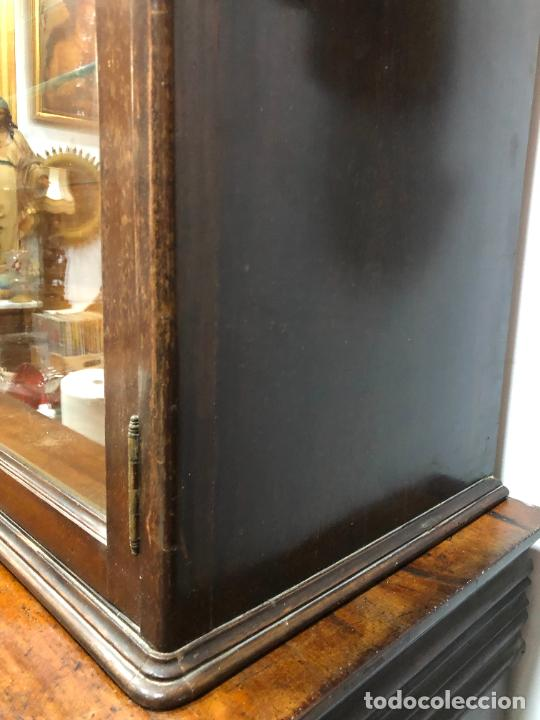 Antigüedades: GRAN VITRINA DE MADERA - MEDIDA TOTAL 131X148X42 CM - Foto 11 - 241234050