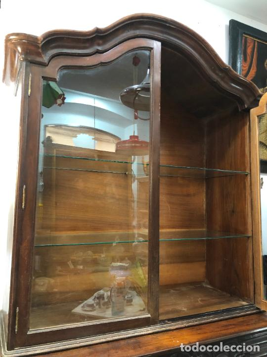 Antigüedades: GRAN VITRINA DE MADERA - MEDIDA TOTAL 131X148X42 CM - Foto 16 - 241234050