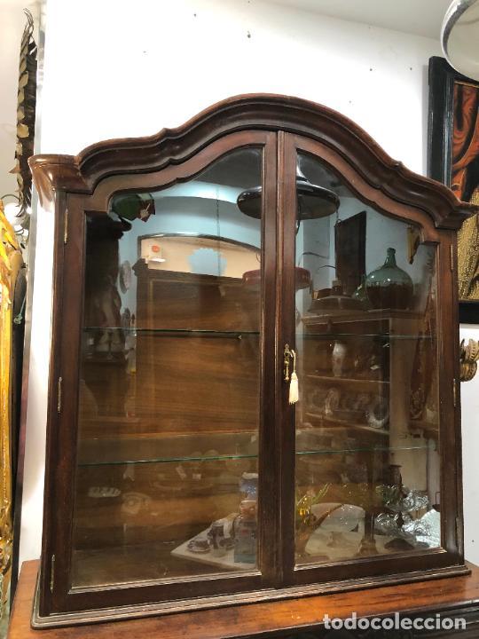 GRAN VITRINA DE MADERA - MEDIDA TOTAL 131X148X42 CM (Antigüedades - Muebles Antiguos - Vitrinas Antiguos)