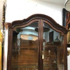 Antigüedades: GRAN VITRINA DE MADERA - MEDIDA TOTAL 131X148X42 CM. Lote 241234050