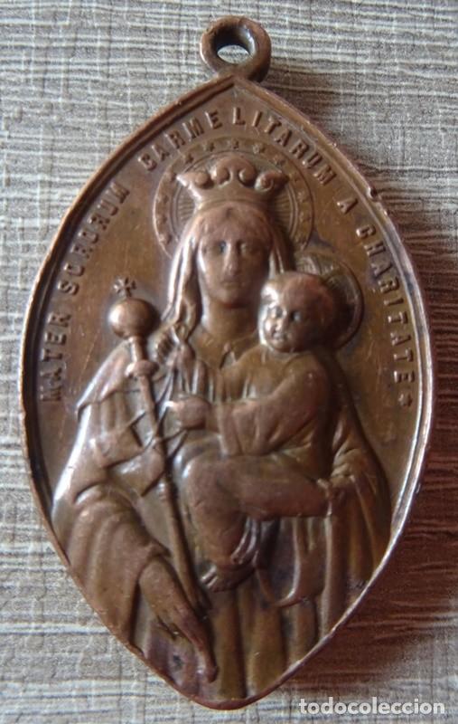 Antigüedades: MEDALLA RELIGIOSA COR JESU INFLAMMA COR NOSTRUM AMORE - Foto 3 - 241277300