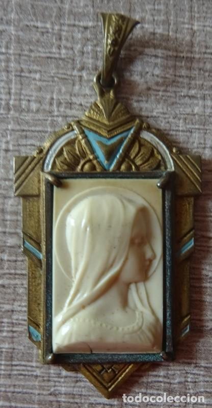 MEDALLA RELIGIOSA VIRGEN MARIA (Antigüedades - Religiosas - Medallas Antiguas)