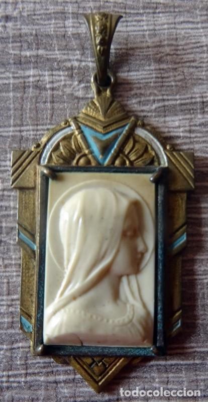 Antigüedades: MEDALLA RELIGIOSA VIRGEN MARIA - Foto 2 - 241288360