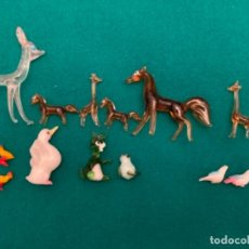 Antigüedades: LOTE ANIMALES MINIATURA EN CRISTAL. VARIOS MURANO. Lote 241295290