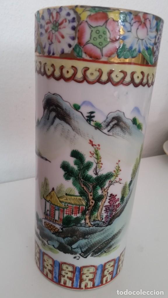 GRANDE Y ANTIGUIA JARA PORCELANA CHINA HECHA Y PINTADA A MANO (Antigüedades - Porcelanas y Cerámicas - China)