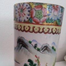 Antigüedades: GRANDE Y ANTIGUIA JARA PORCELANA CHINA HECHA Y PINTADA A MANO. Lote 241314170