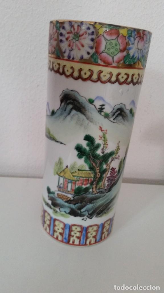 Antigüedades: GRANDE Y ANTIGUIA JARA PORCELANA CHINA HECHA Y PINTADA A MANO - Foto 2 - 241314170
