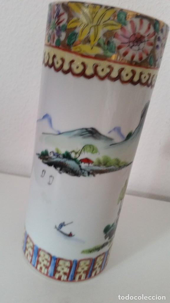 Antigüedades: GRANDE Y ANTIGUIA JARA PORCELANA CHINA HECHA Y PINTADA A MANO - Foto 3 - 241314170