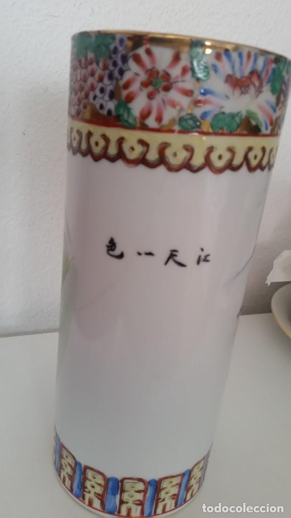 Antigüedades: GRANDE Y ANTIGUIA JARA PORCELANA CHINA HECHA Y PINTADA A MANO - Foto 4 - 241314170