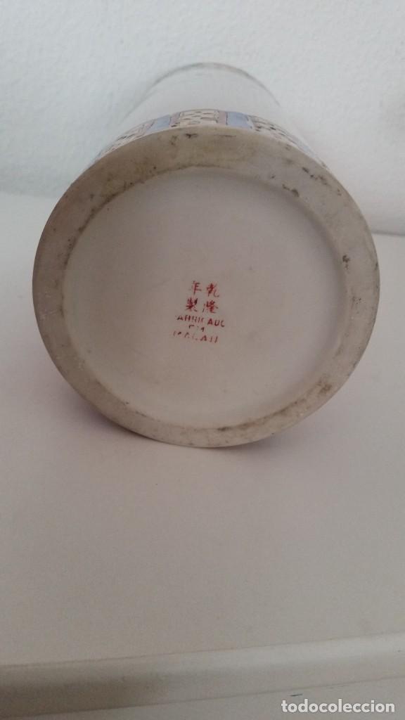 Antigüedades: GRANDE Y ANTIGUIA JARA PORCELANA CHINA HECHA Y PINTADA A MANO - Foto 7 - 241314170