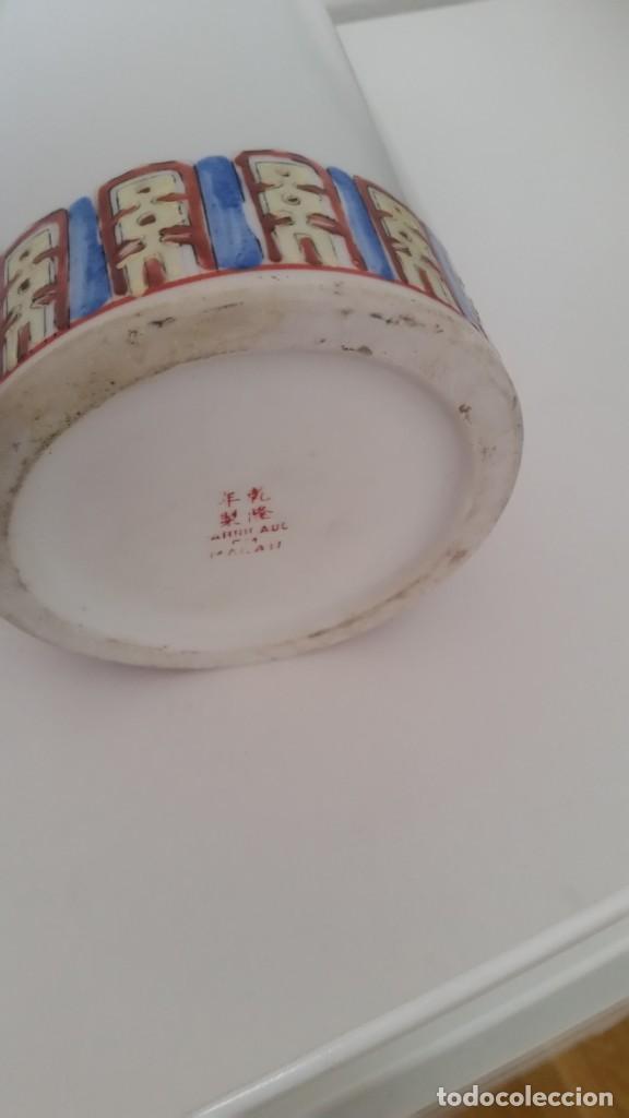 Antigüedades: GRANDE Y ANTIGUIA JARA PORCELANA CHINA HECHA Y PINTADA A MANO - Foto 8 - 241314170