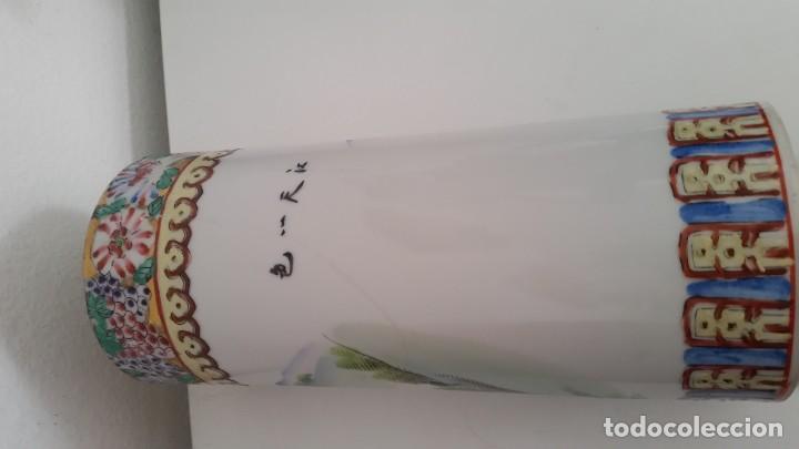 Antigüedades: GRANDE Y ANTIGUIA JARA PORCELANA CHINA HECHA Y PINTADA A MANO - Foto 9 - 241314170