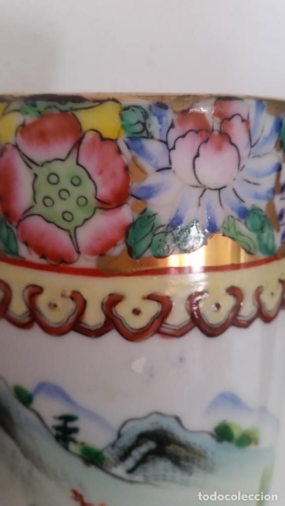 Antigüedades: GRANDE Y ANTIGUIA JARA PORCELANA CHINA HECHA Y PINTADA A MANO - Foto 10 - 241314170
