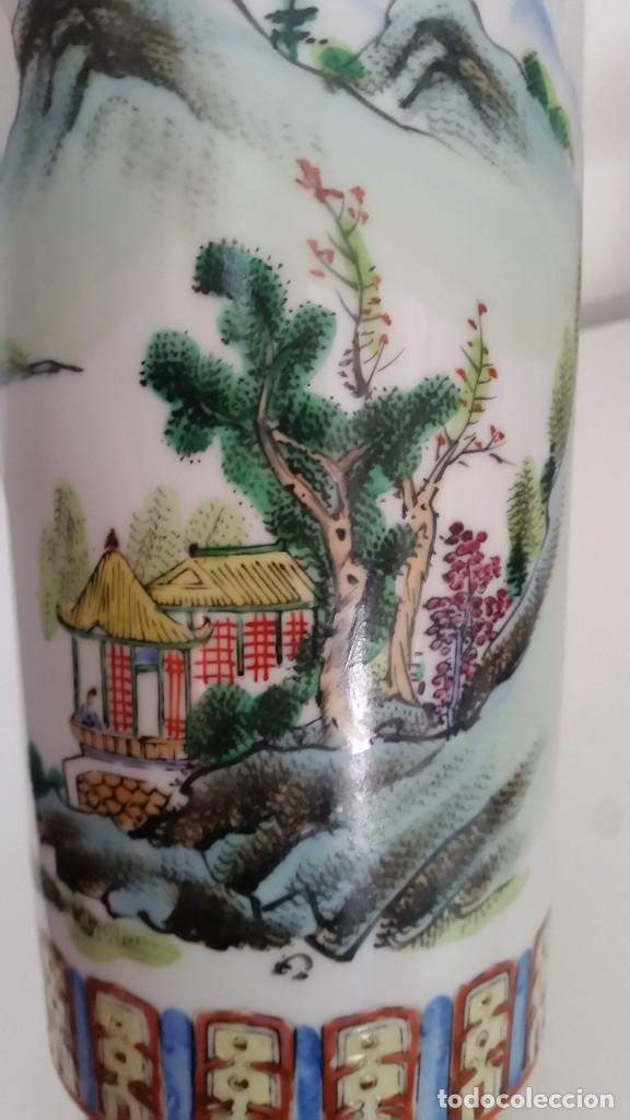 Antigüedades: GRANDE Y ANTIGUIA JARA PORCELANA CHINA HECHA Y PINTADA A MANO - Foto 11 - 241314170