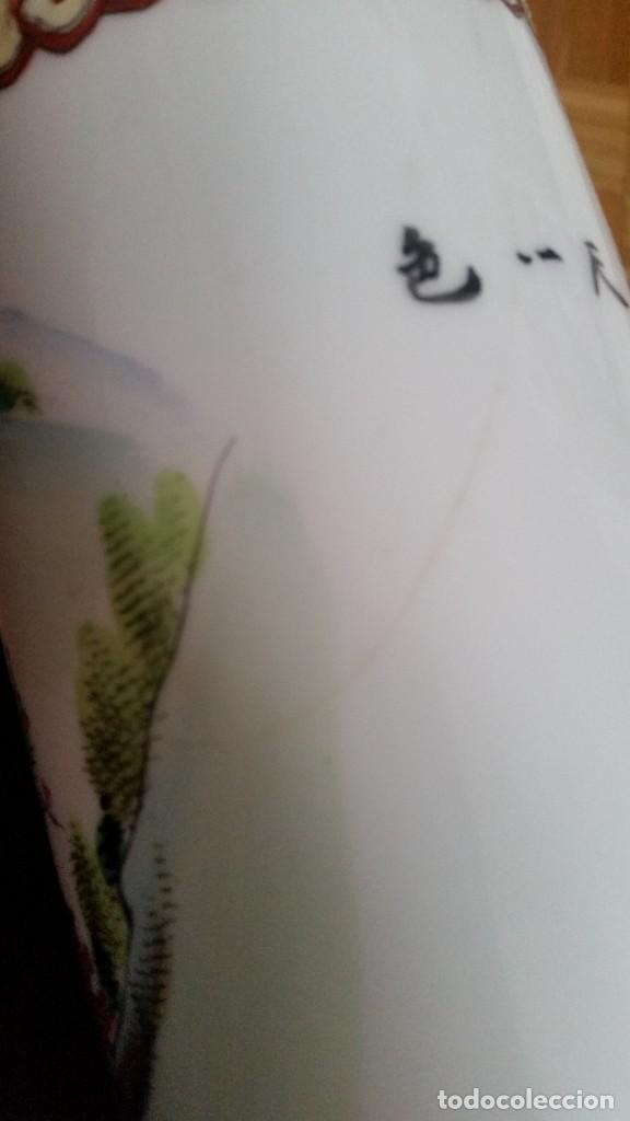 Antigüedades: GRANDE Y ANTIGUIA JARA PORCELANA CHINA HECHA Y PINTADA A MANO - Foto 12 - 241314170