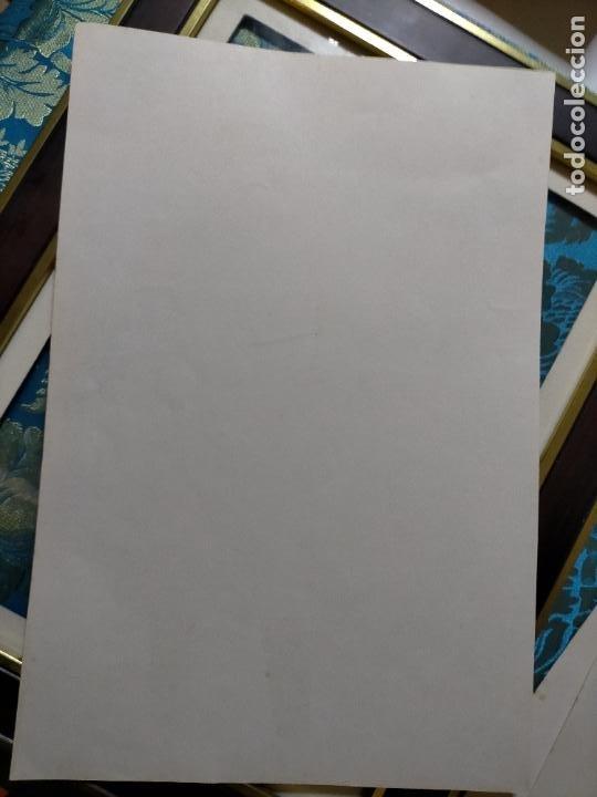 Antigüedades: AÑO 40/50 GRAN LAMINA 40 X27,5 CM ORIGINAL MODA ELEGANTE MASCULINA HOMBRE FIGURINES Atelier Sogra - Foto 2 - 241320460