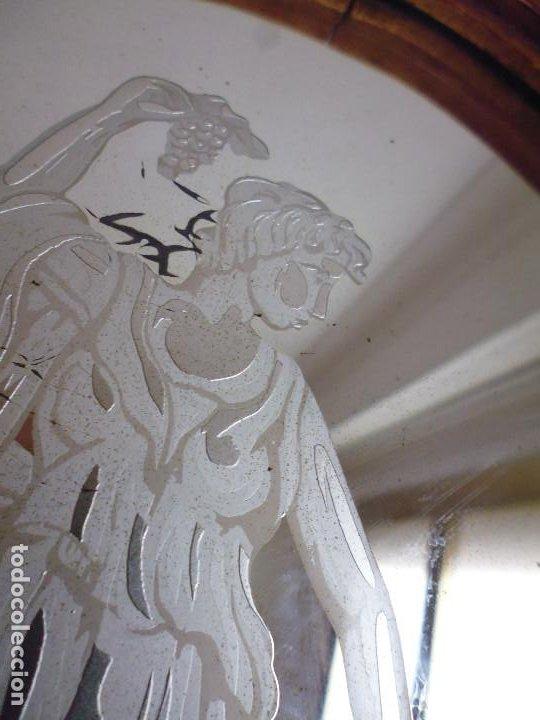 Antigüedades: PAREJA CORNUCOPIAS. ESPEJO GRABADO REAL FÁBRICA DE LA GRANJA. SIGLO XVIII. 86x54cm unid. - Foto 5 - 241337555