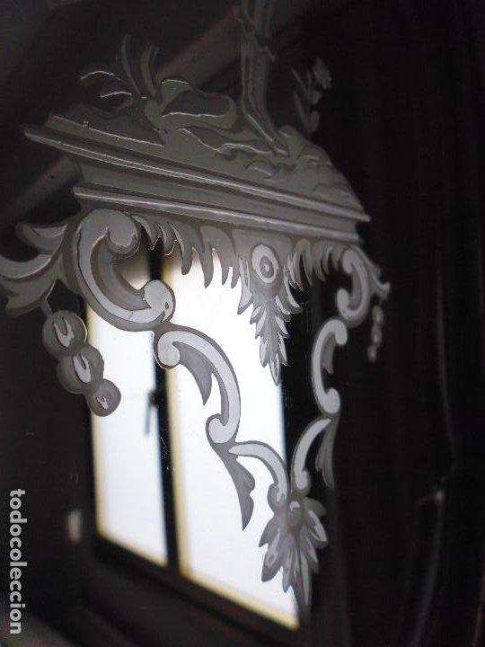Antigüedades: PAREJA CORNUCOPIAS. ESPEJO GRABADO REAL FÁBRICA DE LA GRANJA. SIGLO XVIII. 86x54cm unid. - Foto 12 - 241337555