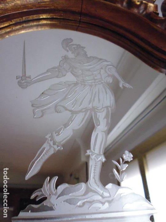 Antigüedades: PAREJA CORNUCOPIAS. ESPEJO GRABADO REAL FÁBRICA DE LA GRANJA. SIGLO XVIII. 86x54cm unid. - Foto 13 - 241337555