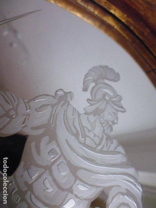 Antigüedades: PAREJA CORNUCOPIAS. ESPEJO GRABADO REAL FÁBRICA DE LA GRANJA. SIGLO XVIII. 86x54cm unid. - Foto 14 - 241337555