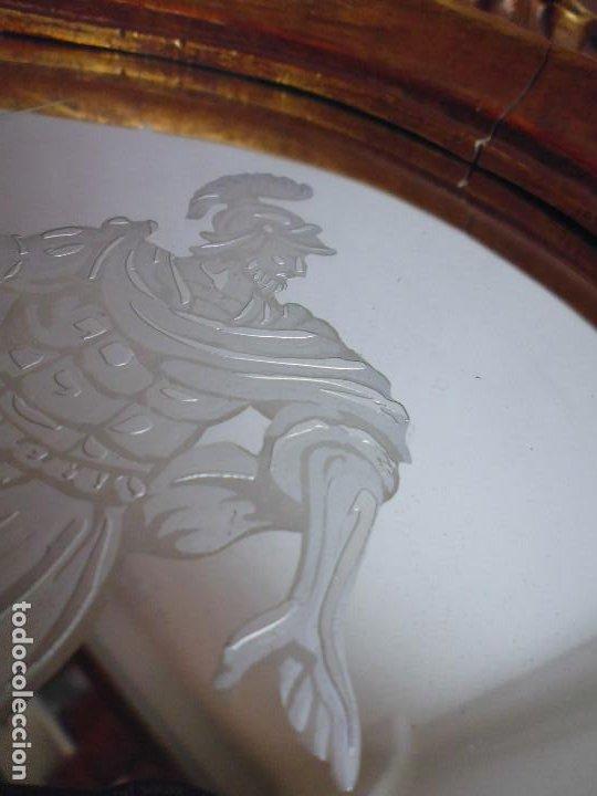 Antigüedades: PAREJA CORNUCOPIAS. ESPEJO GRABADO REAL FÁBRICA DE LA GRANJA. SIGLO XVIII. 86x54cm unid. - Foto 15 - 241337555