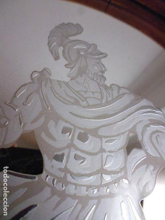 Antigüedades: PAREJA CORNUCOPIAS. ESPEJO GRABADO REAL FÁBRICA DE LA GRANJA. SIGLO XVIII. 86x54cm unid. - Foto 16 - 241337555