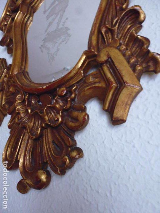 Antigüedades: PAREJA CORNUCOPIAS. ESPEJO GRABADO REAL FÁBRICA DE LA GRANJA. SIGLO XVIII. 86x54cm unid. - Foto 21 - 241337555