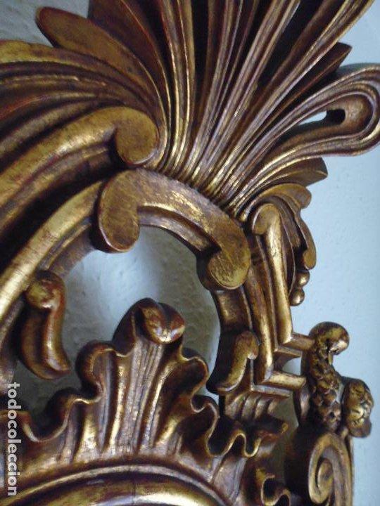 Antigüedades: PAREJA CORNUCOPIAS. ESPEJO GRABADO REAL FÁBRICA DE LA GRANJA. SIGLO XVIII. 86x54cm unid. - Foto 23 - 241337555