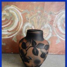 Antigüedades: JARRON DE CRISTAL ANTIGUO ART NOUVEAU-DECO FIRMADO. Lote 241371000