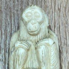 Antigüedades: ANTIGUO BASTÓN, CON EL MANGO EN MARFIL, Y LA VARA DE CAÑA. PPS S.XX. Lote 241389430
