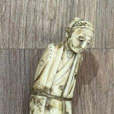 Antigüedades: ANTIGUO BASTÓN CHINO, CON EL MANGO DE MARFIL, Y LA VARA DE MADERA. PPS. S.XX.. Lote 241397265