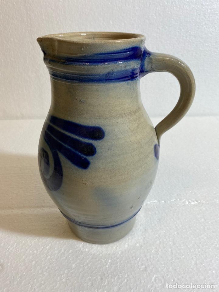 JARRA ALEMANA DE CERVEZA EN GRES (Antigüedades - Porcelana y Cerámica - Alemana - Meissen)
