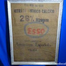 Antigüedades: SACO DE NITRATO AMONIACO CÁLCICO .ESSO. MALAGA.. Lote 241465115