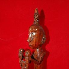 Antigüedades: FIGURA TALLADA EN MADERA BALINESA. Lote 241509975