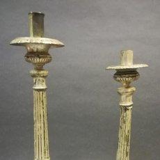 Antigüedades: CANDELEROS DE IGLESIA ANTIGUOS. Lote 241645535