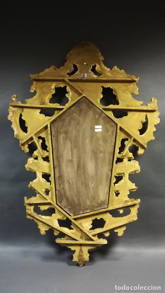 Antigüedades: ESPEJO CORNUCOPIA PINTADO DORADA - Foto 10 - 241659730