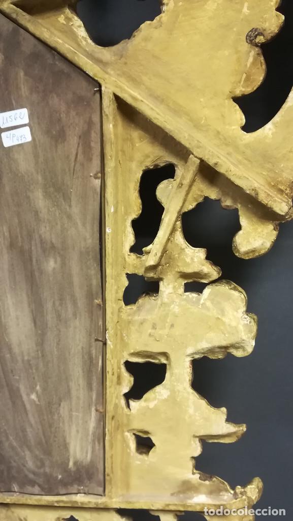 Antigüedades: ESPEJO CORNUCOPIA PINTADO DORADA - Foto 12 - 241659730