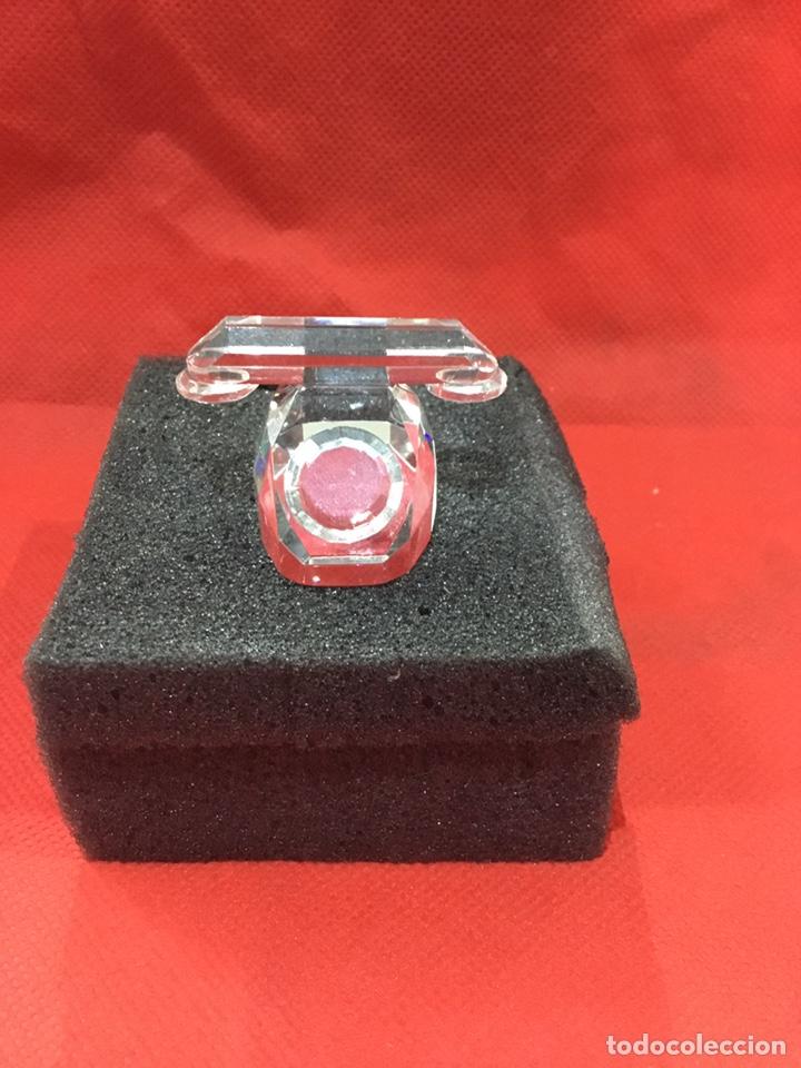 Antigüedades: Figura Telefono de Crystal con caja - ver fotos - Foto 2 - 241677855