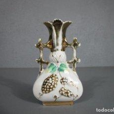 Antigüedades: ANTIGUO JARRÓN ISABELINO - PORCELANA ESMALTADA DORADA - S. XIX. Lote 257568230