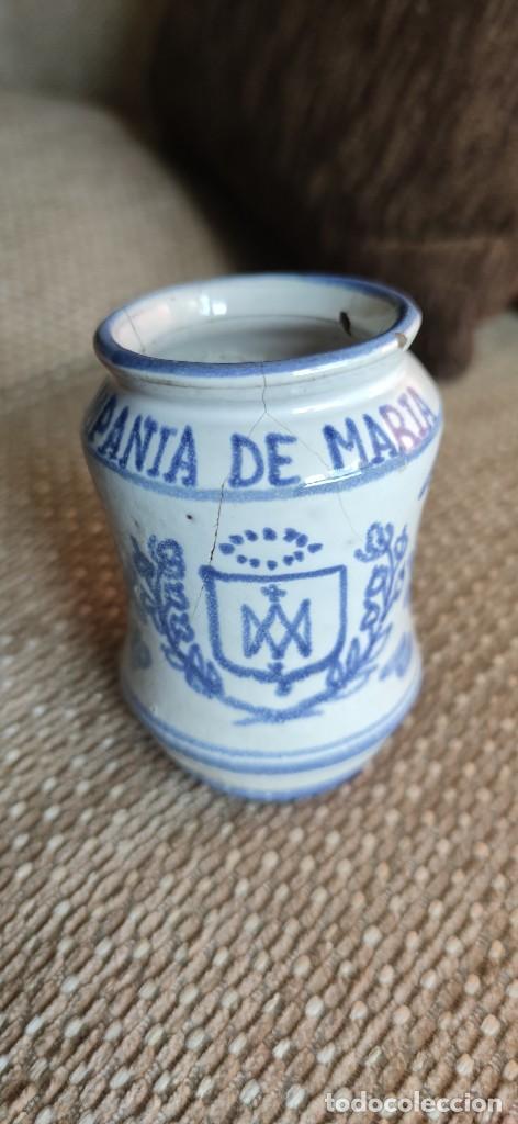 PEQUEÑO ALBARELO DE MUEL (TERUEL). COMPAÑÍA DE MARIA (Antigüedades - Porcelanas y Cerámicas - Teruel)