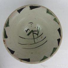 Antiquités: CUENCO E CERÁMICA DE TERUEL - FINALES SIGLO XIX. Lote 241757415