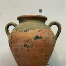 Antiguidades: ANTIGUA ORZA DE BARRO DE DOBLE HAZAS. Lote 241802875