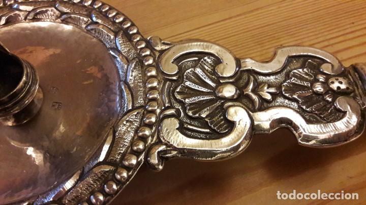 Antigüedades: Candelero en plata Madrid. S. XVIII? - Foto 2 - 241819910