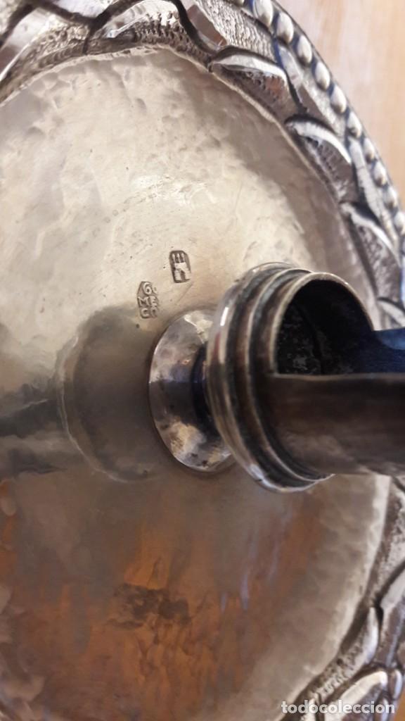 Antigüedades: Candelero en plata Madrid. S. XVIII? - Foto 6 - 241819910