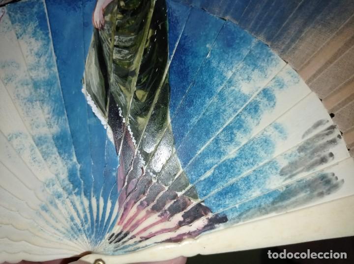 Antigüedades: ANTIGUO ABANICO PINTADO A MANO - Foto 4 - 241825765